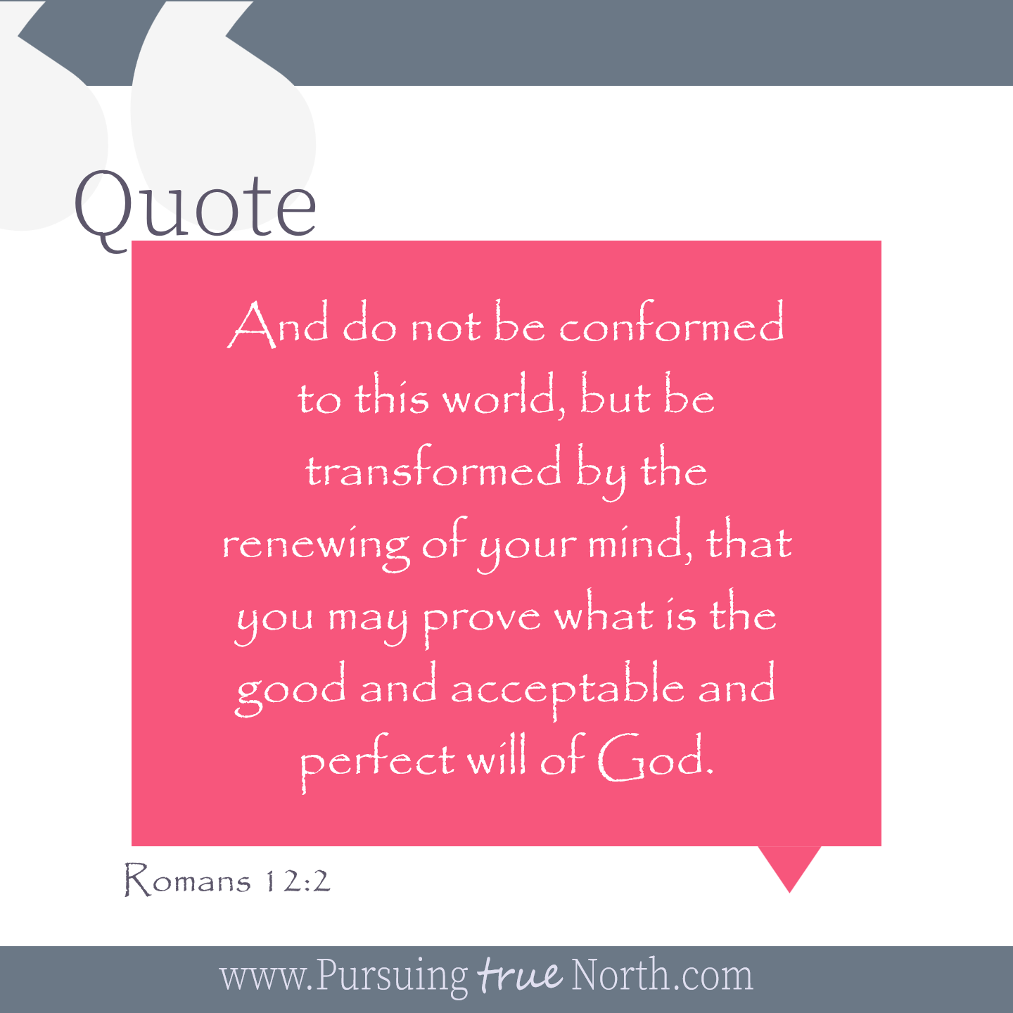 Truth of the Week 33: Transform Don't Conform - Pursuing